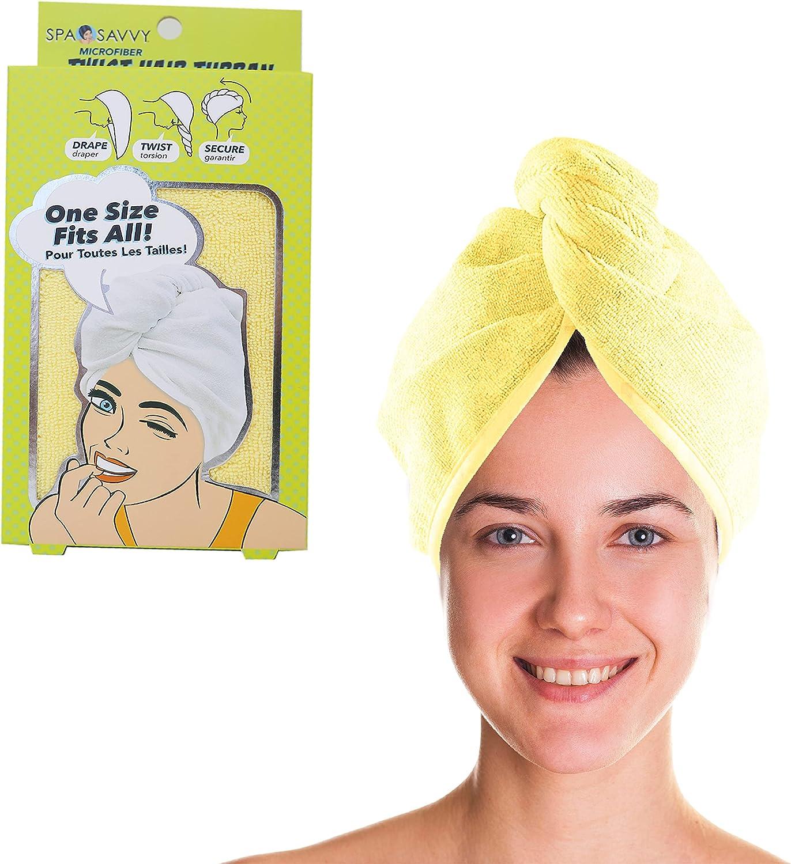 Spa Savvy 100% Microfiber Hair latest Fast Daily bargain sale Dryi Ultra Turban Absorbent