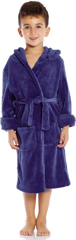 Popular brand Leveret Kids Robe Boys Girls Hooded Fleece Solid Bath New mail order Sleep