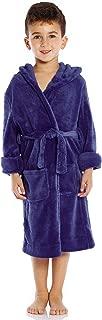 Kids Robe Boys Girls Solid Hooded Fleece Sleep Robe Bathrobe (2 Toddler-16 Years) Variety of Colors