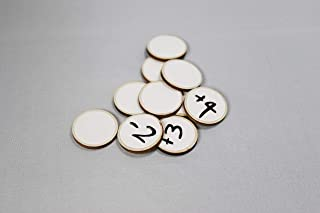 Dry Erase Wooden Tokens 1 Inch Counters Reusable - Pack of 20