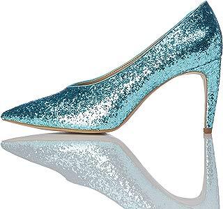 Marca Amazon - find. Zapatos de Tacón con Empeine Alto Mujer