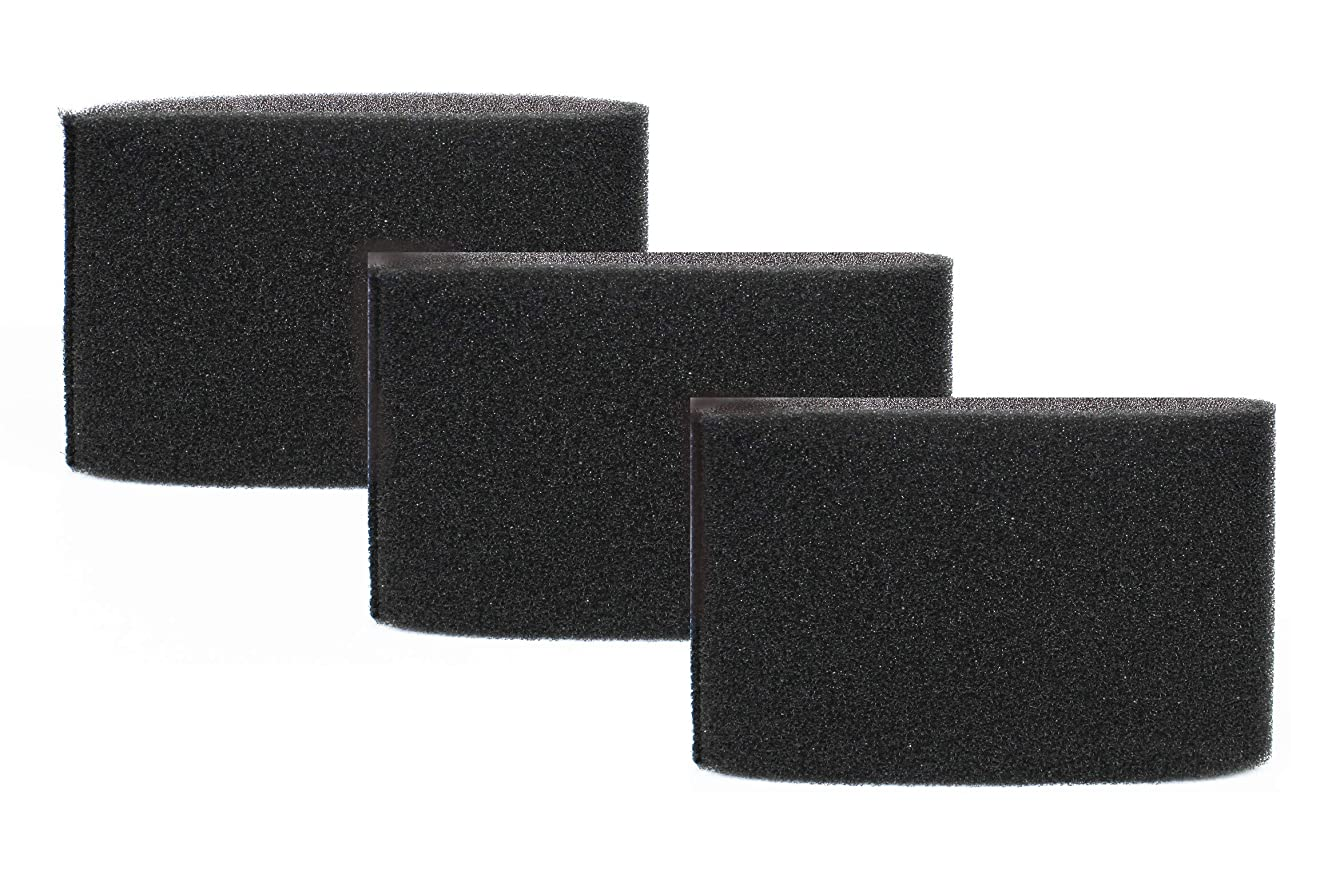 Vacmaster Foam Filter fits 5-16 Gallon Vacs, VFF51, Sold as 3 Pack