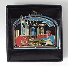 Nashville Brass Christmas Ornament Black Leatherette Gift Box