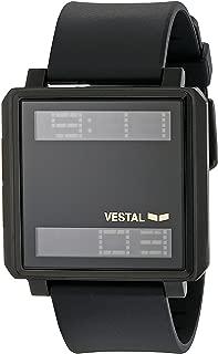 Vestal Unisex TRADR06 Transom Digital Display Quartz Black Watch