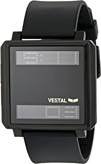 Vestal Unisex TRADR06 Transom Digital Display Quartz Black Watch
