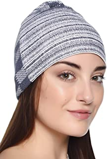 69GAL Women's Cotton Lycra Skull Cap (Multicolor_Free Size) (Pack of 1)