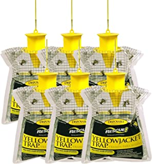 Rescue YJTD-W Disposable Yellowjacket Trap, Outdoor Non-Toxic Mode Of Action, Powdered Attractant Catches Multiple Species, Last For Weeks In Summer and Fall, Designed For Western U.S.A. (Pack of 6)