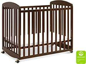 Davinci Alpha Mini Rocking Crib in Espresso | Removable Wheels | Greenguard Gold Certified