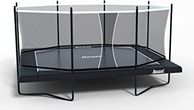 Beast K9 10x17 Performance Rectangle Trampoline with Enclosure | Heavy Duty | No Weight Limit | 10 Inch Performance Springs | Free Ladder