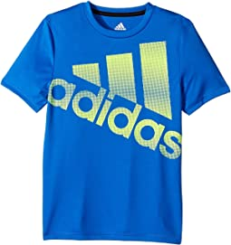 adidas Kids - Clima Future Stripe Logo Tee (Big Kids)