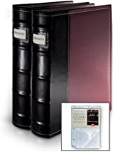 Bellagio-Italia Burgundy DVD Storage Binder Set - Stores Up to 128 DVDs, CDs, or Blu-Rays - Stores DVD Cover Art - Acid-Free Sheets