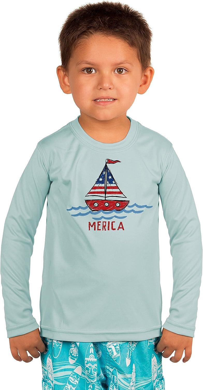 Vapor Apparel America Sailboat Toddler UPF 50+ Sun Protection T-Shirt