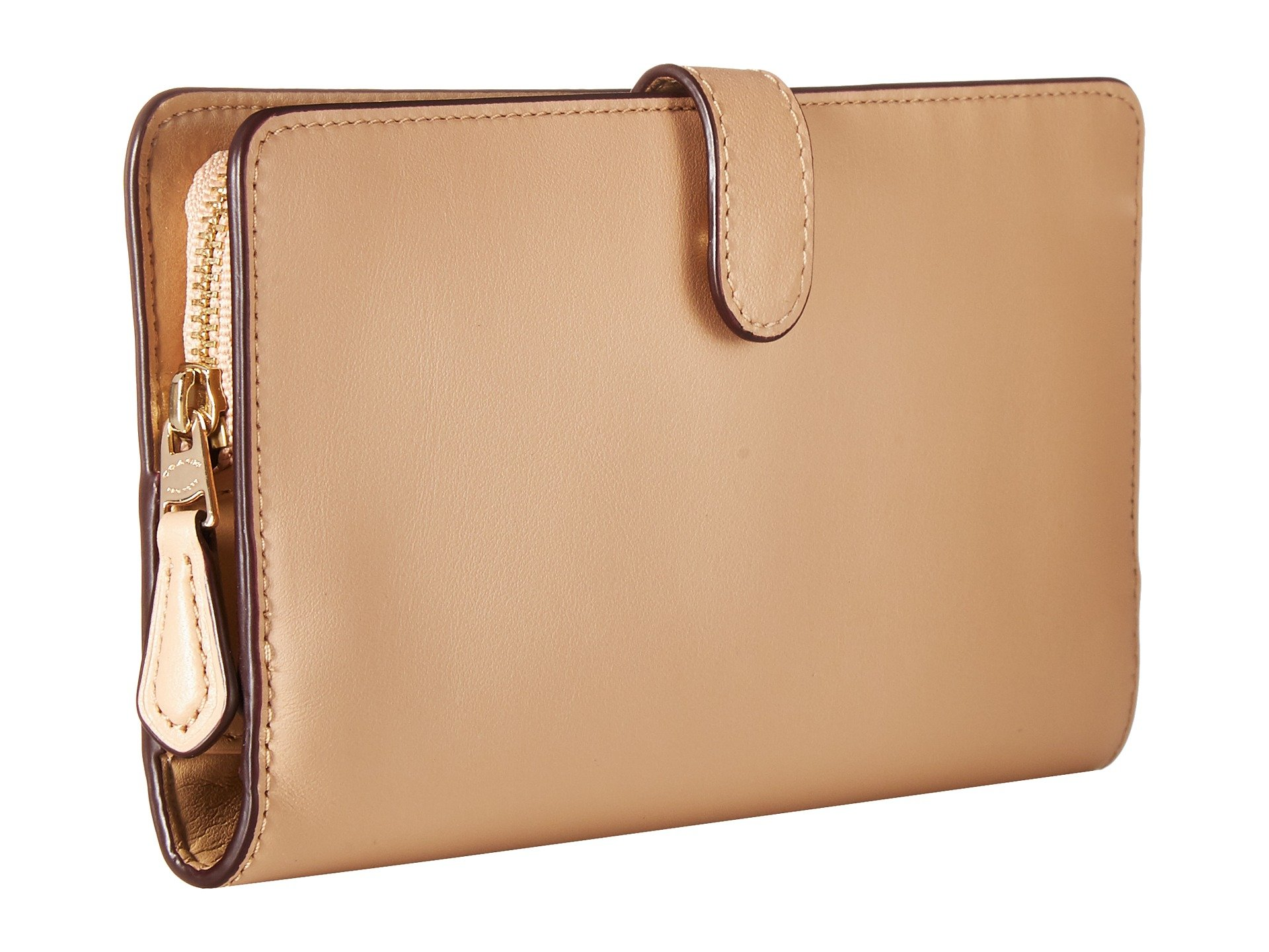 COACH Skinny Wallet in Smooth Leather at Zappos.com