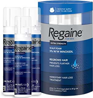Regaine for Men Scalp Foam Hair Loss Treatment for Men, Pack