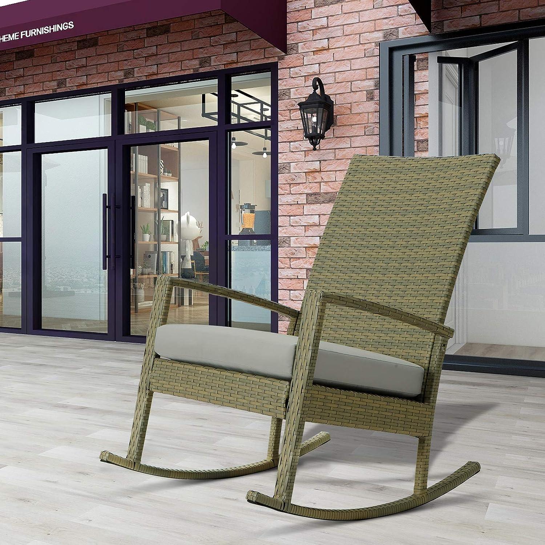TOOMOO New Shipping Free Shipping Wicker Rocking Chair Patio San Antonio Mall Rocker Rattan wi Woven Chairs