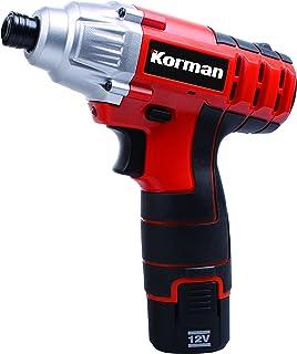 Korman 500244 Llave de Impacto 12V Litio 1,5 ah, 12 W, 12