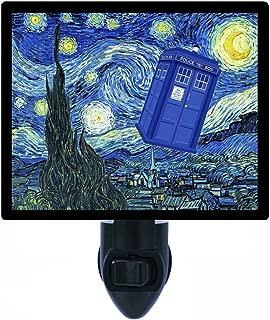 Night Light, Dr. Who Starry Night, Tardis -Van Gogh