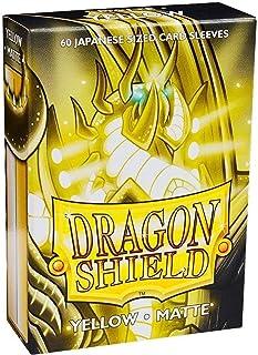 Dragon Shield Matte Mini Japanese Yellow 60 ct Card Sleeves Individual Pack