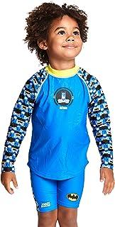 Zoggs 男孩蝙蝠侠长袖*上衣,防紫外线