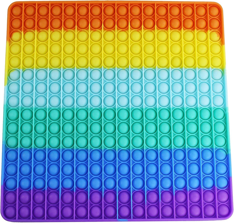 Vovomay Big Push Pop Bubble Fidget Sensory Toy Rainbow Oversize