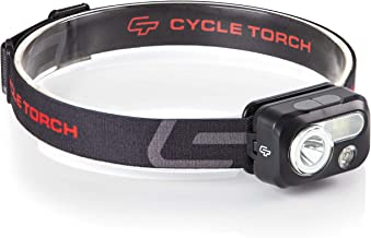 Cycle Torch Headlamp - 230 Lumen, 3 x AAA Batteries Operated Head Lamp, Bright White Cree Led + Red Light, Perfect for Runners, Lightweight, Waterproof, Adjustable Headband, Batteries Included (Black)