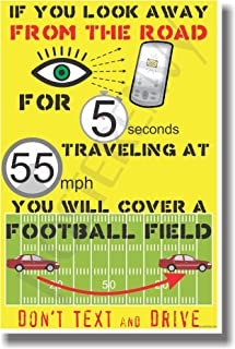 Texting - Football Field - NEW Health and Safety Poster