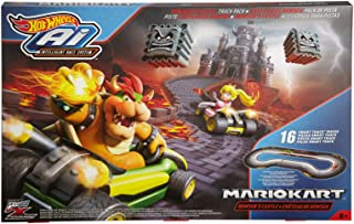 Hot Wheels Mario Kart Bowsers Castle Track Pack - Ai Intelligent Race System (16 Tracks)