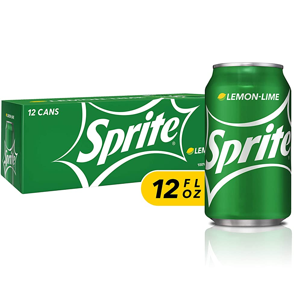 Sprite Lemon Lime Soda Soft Drinks, 12 fl oz, 12 Pack
