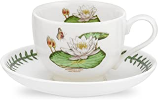 Portmeirion Exotic Botanic Garden White Water Lily Teacup and Saucer