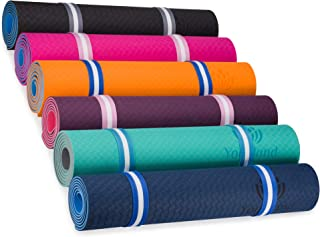 YOGALAND Premium Yoga Mat with Carrier Strap - Yoga Mat 6mm 1/4-Inch Thick, Non-Slip, Eco-Friendly Lightweight, Extra Large 72 x 24 for Yoga, Pilates, Exercise, Fitness'