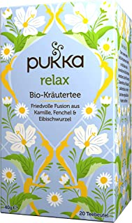 Pukka Bio-Tee Relax 80 Teebeutel, 4er Pack 4 x 20 beutel