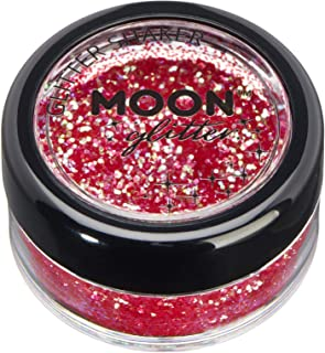 Iridescent Glitter Shakers by Moon Glitter – 100% Cosmetic Glitter for Face, Body, Nails, Hair and Lips - 5g - Cherry