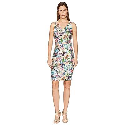 Nicole Miller Kenna V-Neck Dress (Multicolored) Women