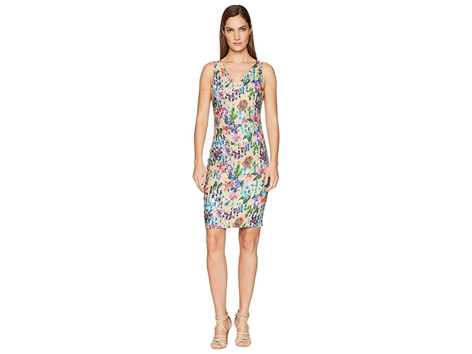 Nicole Miller Kenna V-Neck Dress (Multicolored) Women