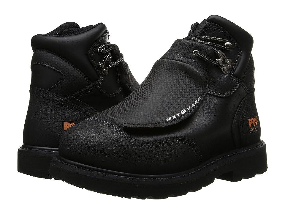 Timberland PRO Met Guard 6 Steel Toe (Black Ever-Guard Leather) Men