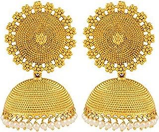 Best pearl jhumkas gold designs Reviews