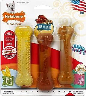 Nylabone Flavor Frenzy BBQ Chicken, Corn and Ice Cream Dog Chew Toys