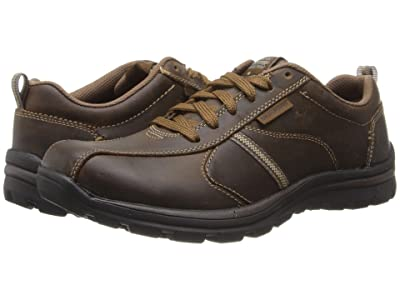 SKECHERS Relaxed Fit Superior Levoy (Dark Brown) Men