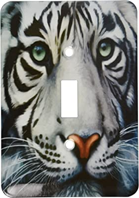 3dRose lsp/_4845/_2 White Tiger Double Toggle Switch