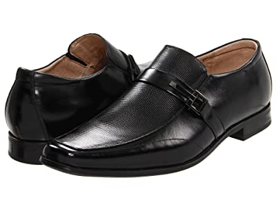 Stacy Adams Beau Moc Toe Slip On Loafer (Black) Men