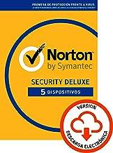 Norton Security   Deluxe   5 Dispositivo   1 Año   PC/Mac   Código de activación enviado por email