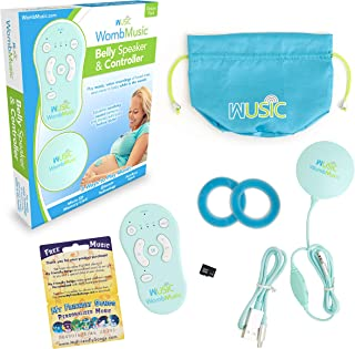 Womb Music Deluxe Pregnancy Headphones for Belly - Play Music, Sounds & Voices to Baby with The Wusic Baby Bump Headphones - Baby Shower Gift Pregnant Women - Speaker & Bluetooth Controller Included