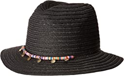 San Diego Hat Company UBF1107 Fedora with Multicolor Trim & Gold Coins