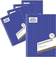 Avery Zweckform 305-5 Cash Statement Pad A5 50 Sheets 5-Pack