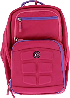 6 Pack Fitness Expedition 300 Backpack Meal Prep Management System 3 - Meal (Pink/Purple)