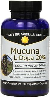 Mucuna L-Dopa 20%   Made in USA   Pure Mucuna pruriens Extract   90 Vegetarian Capsules   High L-Dopa Levels