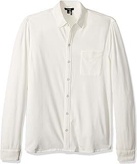 Paige Men's Stockton Tech Jersey Button Up T-Shirt