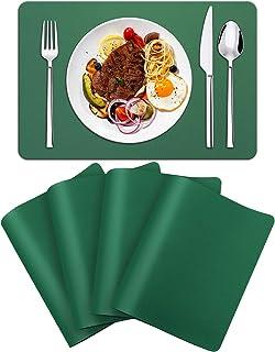 FOGARI Set de Table en Cuir PVC, Ensemble de 4 Sets de Table Résistant à la Chaleur et Aux Taches Antidérapants Lavable po...