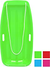 Best Choice Products 35in Kids Plastic Toboggan Snow Sled with Pull Rope, 2 Handles