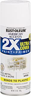 Rust-Oleum 327951-6 PK American Accents Spray Paint, Semi-Gloss White